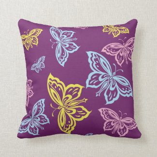Large Colorful Butterfly Pattern Pillows