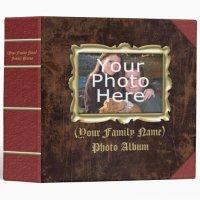 Large Custom Vintage Frame Photo Album Binder | Zazzle.com