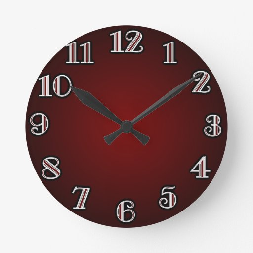 Large Numbers/ Red Wall Clocks