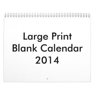 Large Print Calendars and Large Print Wall Calendar