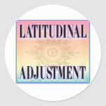 """Latitudinal Adjustment"" stickers"