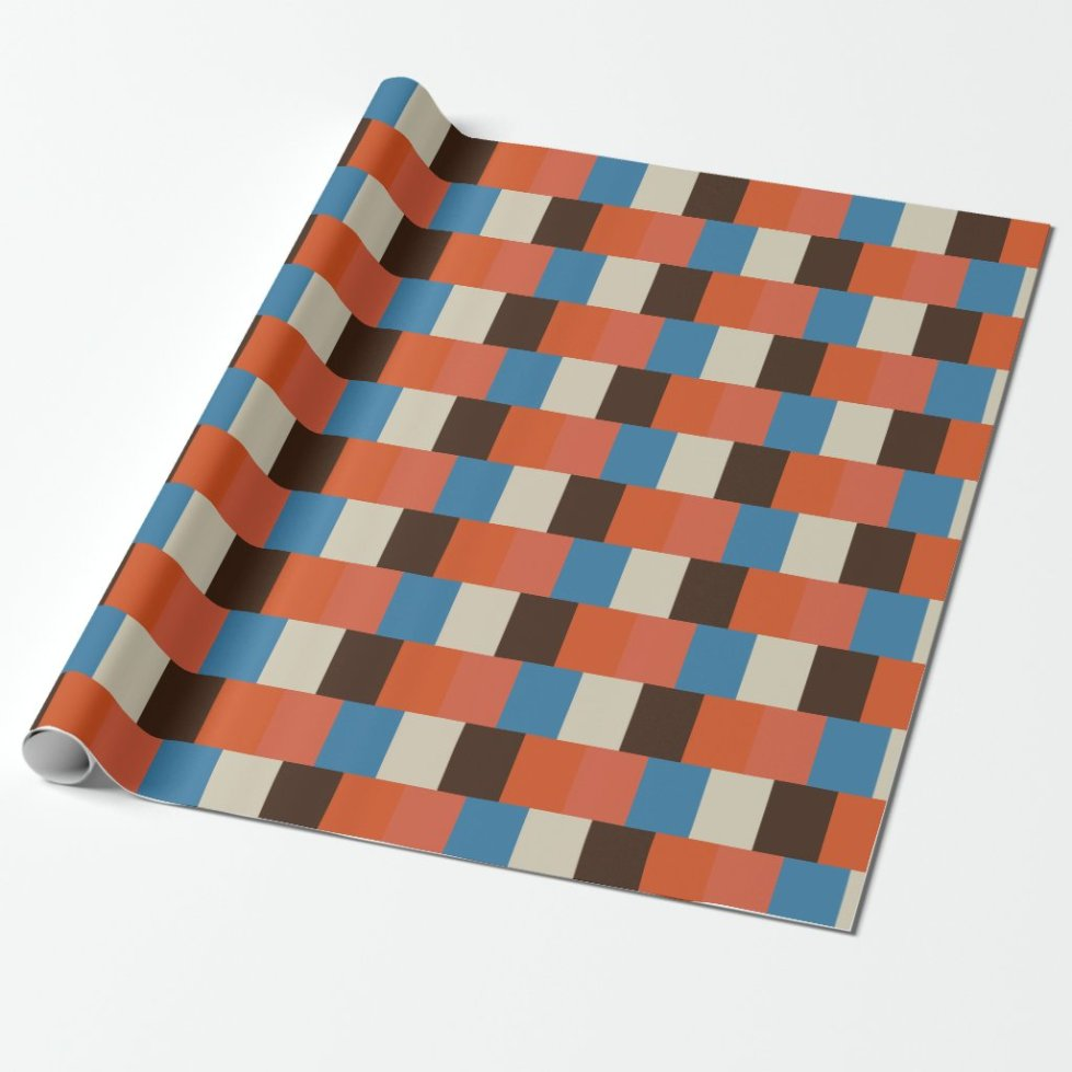 Lattice Look Color Block Theme 5 Wrapping Paper
