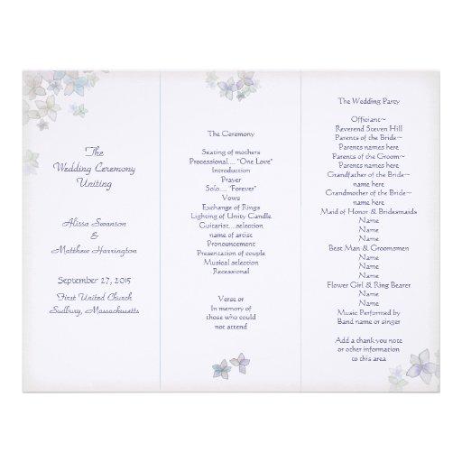 Lavender Art Tri-Fold Wedding Program Template Letterhead