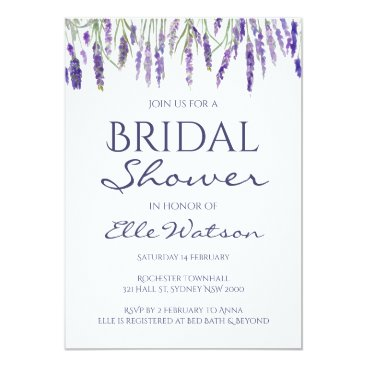 Lavender Bridal Shower Invitation, Wedding Invitation