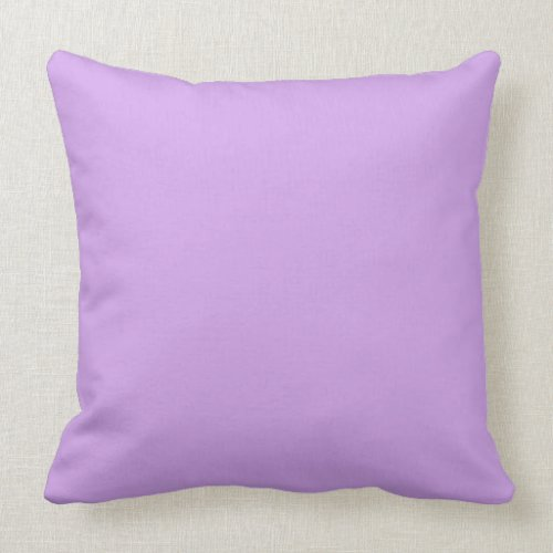 Lavender Color Throw Pillow