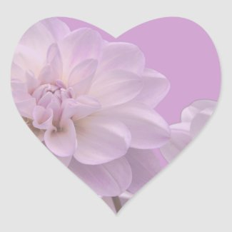 Lavender Dahlia Wedding Sticker sticker