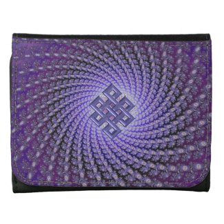 Lavender Fractal and Celtic Diamond Knot Wallet