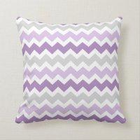 Lavender Gray Chevron Decorative Pillow | Zazzle.com