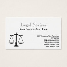 Legal Profession, Attorney and Law Firm Business Card