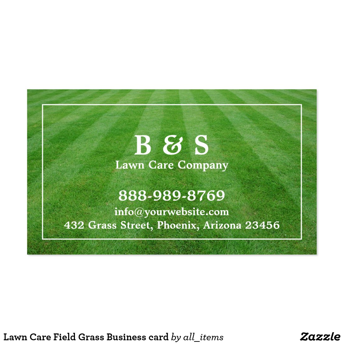 lawn service business card sayings - Lawn Service Business Cards