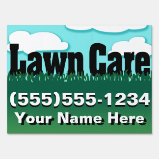 lawn care yard & signs zazzle