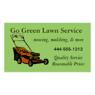 130 yard work business cards