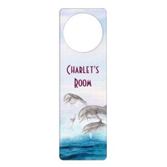 Leaping Dolphins Door Hanger