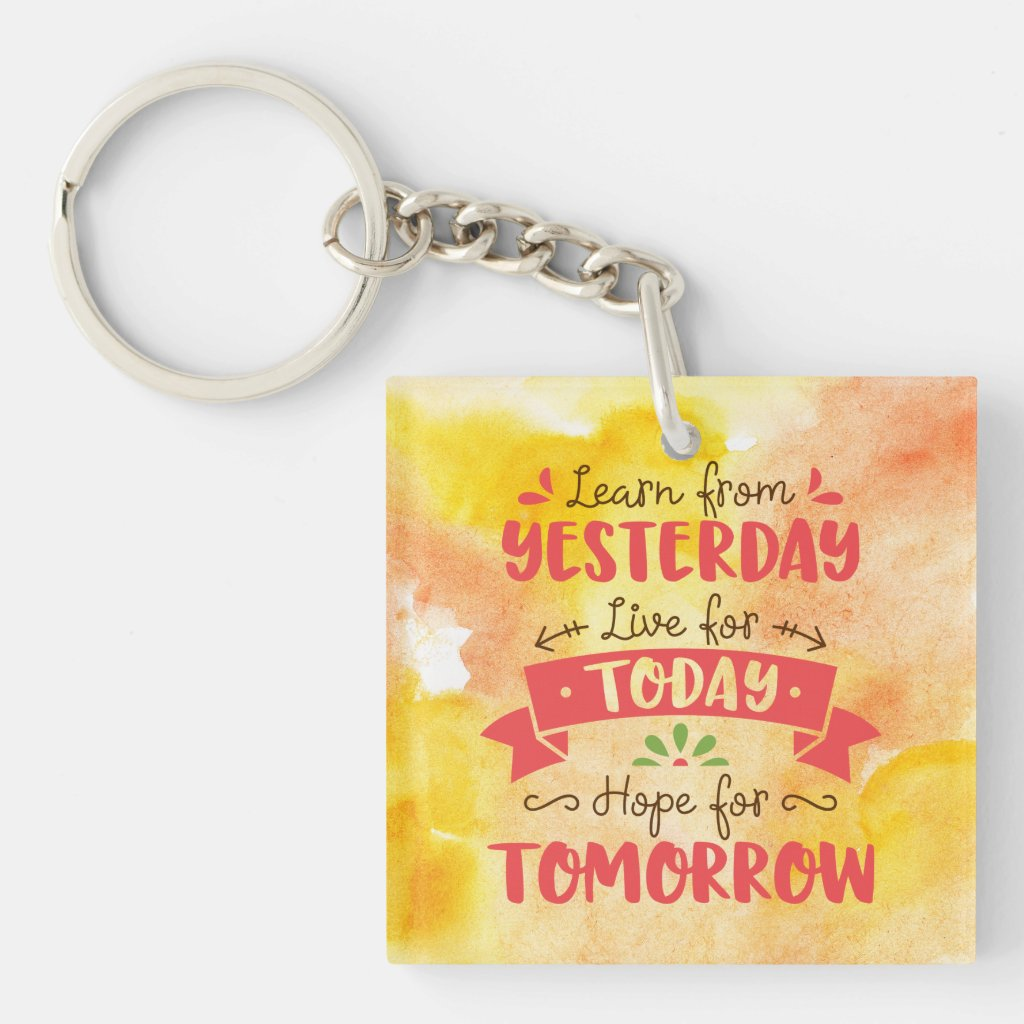 Learn and Live Keychain
