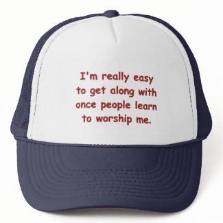 Learn To Worship Me Cap hat