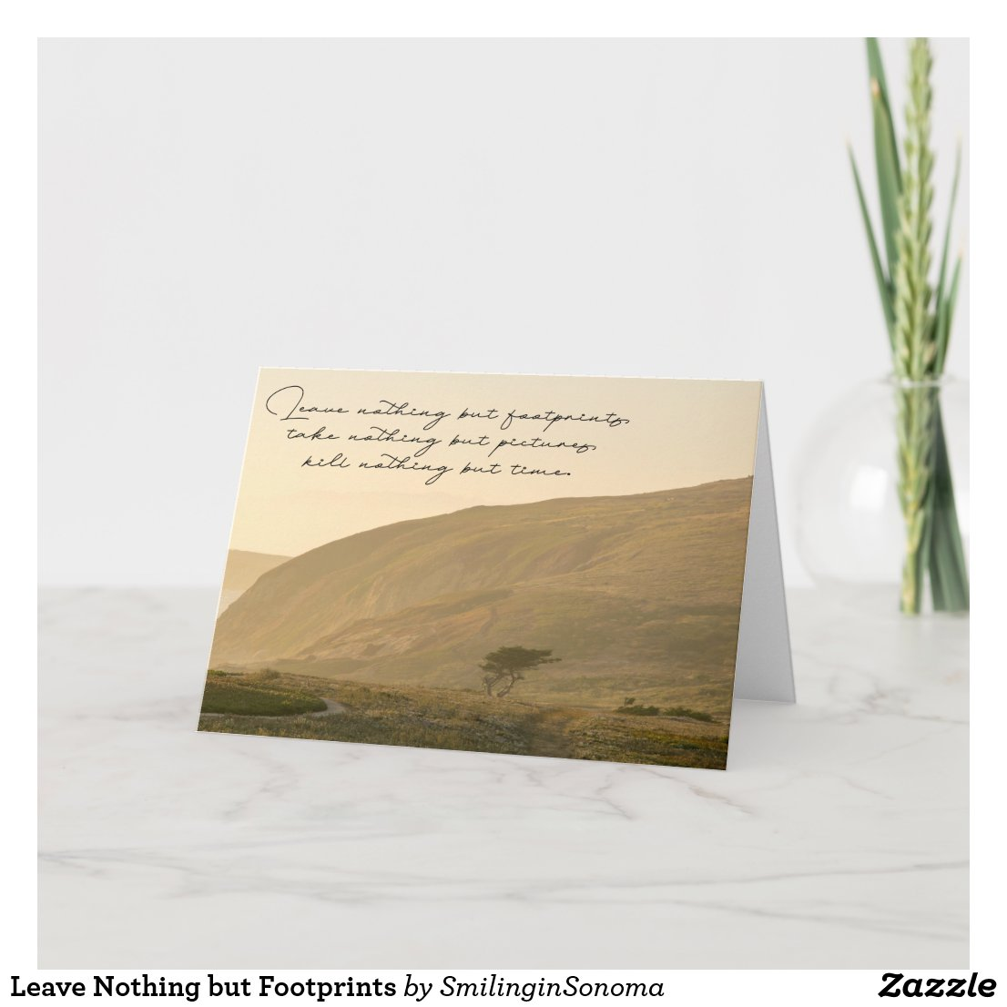 Leave Nothing but Footprints Card