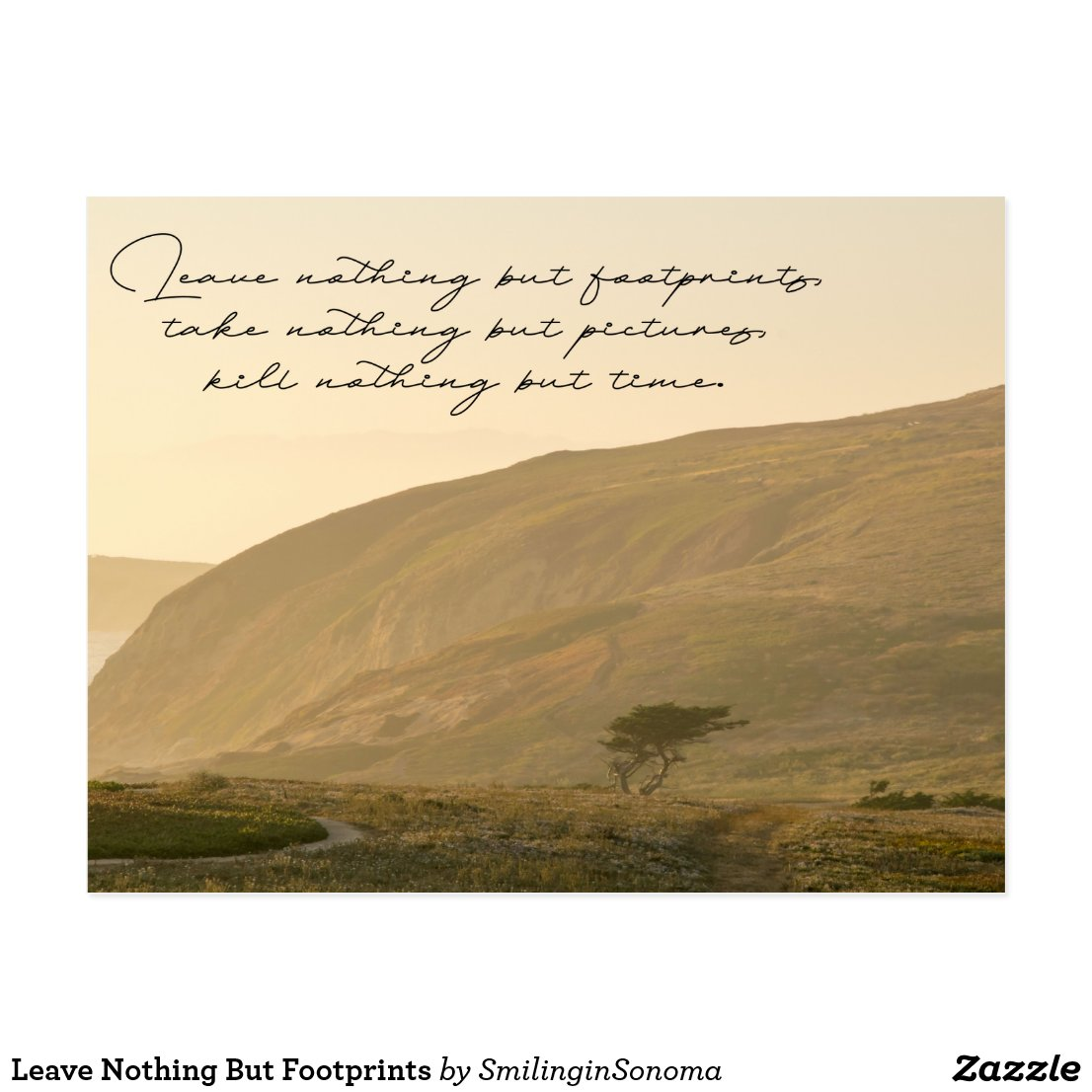 Leave Nothing But Footprints Postcard