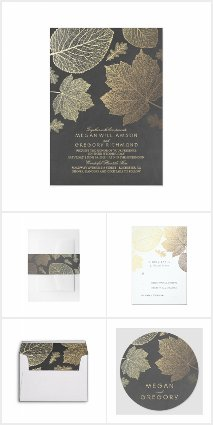 Leaves Fall Elegant Wedding Collection