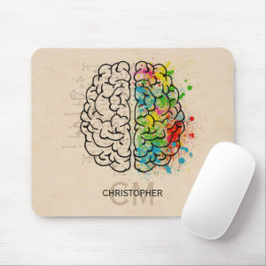 Left And Right Human Brain Personalize Mouse Pad