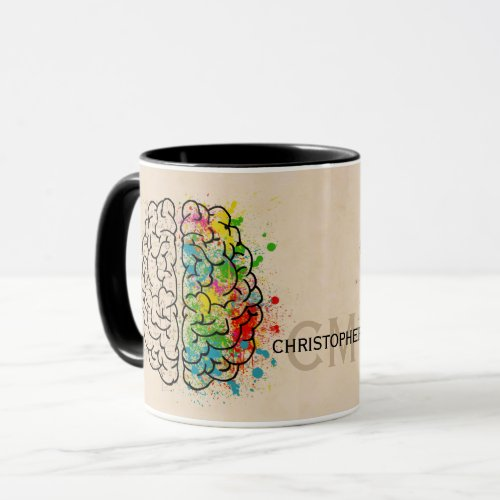 Left And Right Human Brain Personalize Mug
