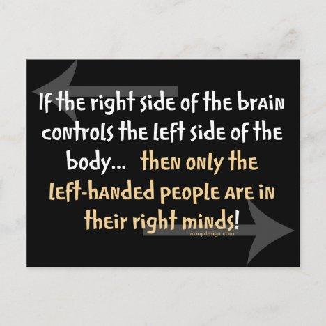 Left-handed people postcard