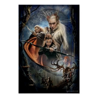 Legolas, Tauriel, and Thranduil Poster