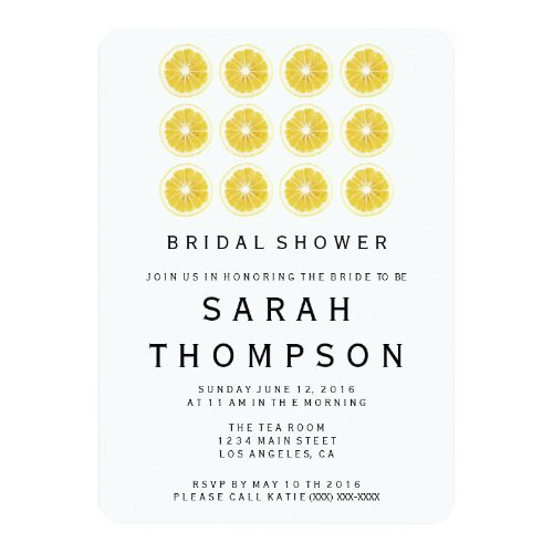 Lemon Bridal Shower Invitation