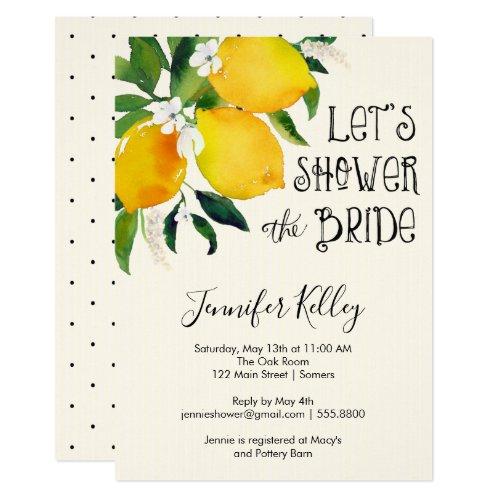 Lemon Bridal Shower, Let&#39&#x3B;s Shower the Bride Invitation