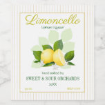 Lemon Citrus Fruit Limoncello Wine Label
