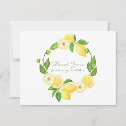 Lemon Citrus Gender Neutral Baby Shower Thank You