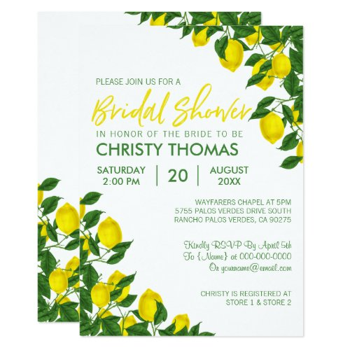 Lemon Summer | Bridal Shower Invite