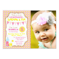 Lemonade Birthday Party Photo Lemonade Party Card