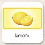 Lemons cork coasters