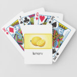 Lemons playing cards