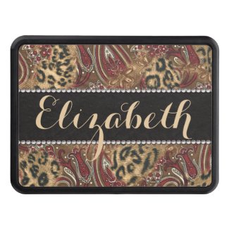 Leopard and Paisley Pattern Print to Personalize Hitch Covers