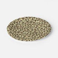 Leopard Animal Print Pattern Paper Plate | Zazzle