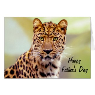 Leopard Photograph Happy Father's Day Cards