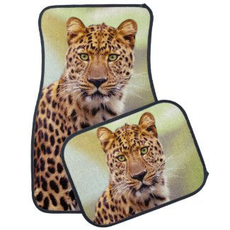 Leopard Photograph Image Car Mat