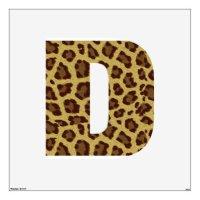 Leopard Print Alphabet Wall Decor | Zazzle