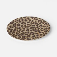 Leopard Print Paper Plate | Zazzle