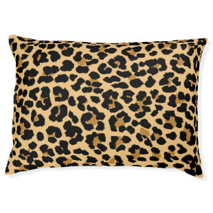 Leopard Print Pattern Dog Bed Large Dog Bed