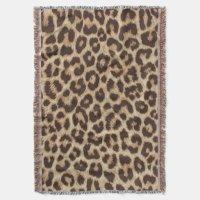 Leopard Print Throw Blanket | Zazzle