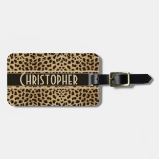 Leopard Skin Pattern Bag Tag