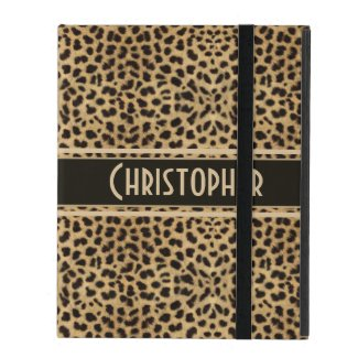 Leopard Skin Pattern Personalize iPad Cases