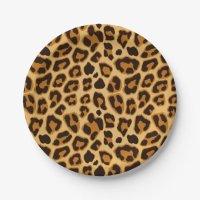 Leopard Skin Print Pattern Paper Plate | Zazzle.com