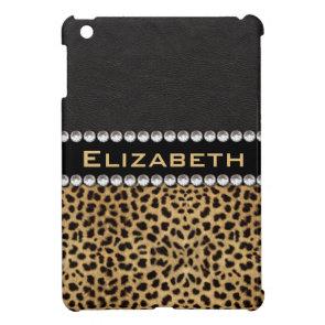 Leopard Spot Rhinestone Diamonds Monogram Custom iPad Mini Case