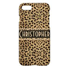 Leopard Spot Skin Personalized iPhone 7 Case