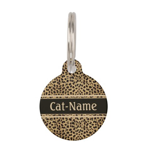 Leopard Spot Skin Personalized Pet ID Tag