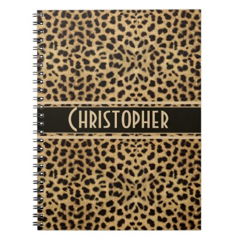 Leopard Spot Skin Print Personalized Notebook