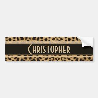 Leopard Spots Pattern Bumper Stickers